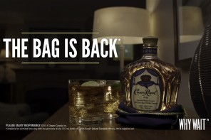Crown Royal 75th Anniversary, bringing back the bag