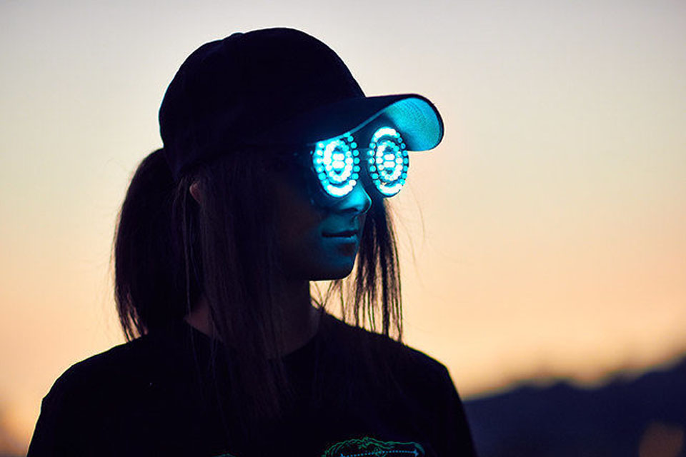 Rezz and her Goggles