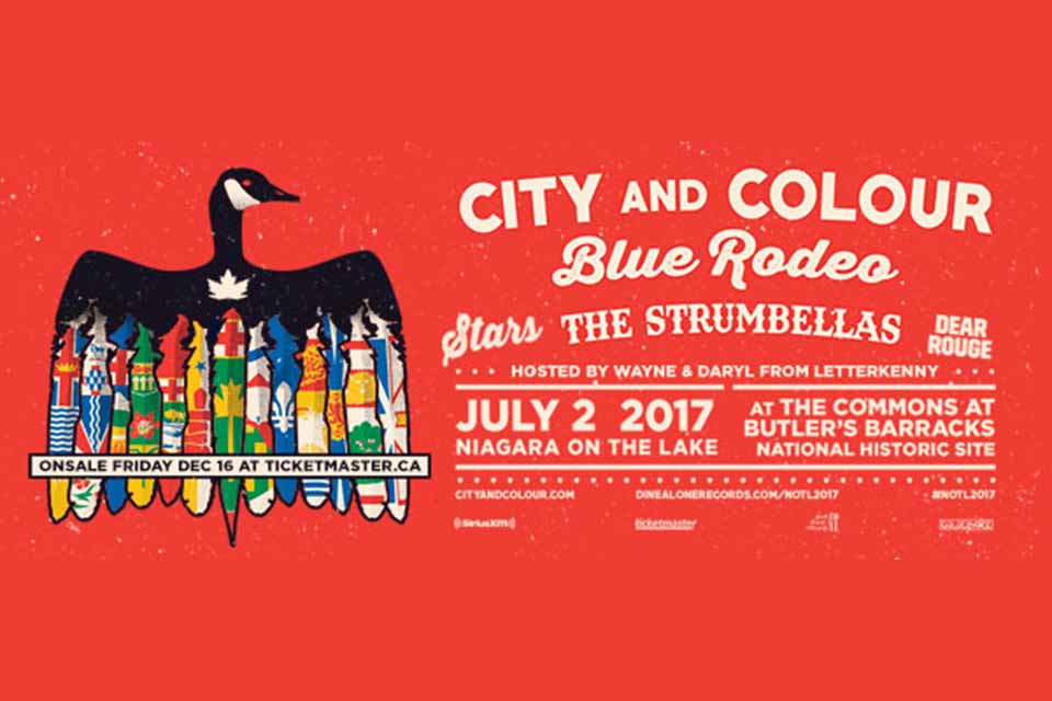 win tickets to see city and colour blue rodeo the strumbellas stars at niagara on the lake. Black Bedroom Furniture Sets. Home Design Ideas